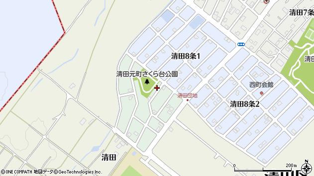〒004-0849 北海道札幌市清田区清田九条の地図