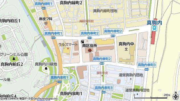 〒005-0000 北海道札幌市南区(以下に掲載がない場合)の地図