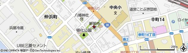 鮮明寺周辺の地図
