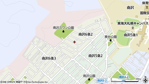 〒005-0826 北海道札幌市南区南沢六条の地図