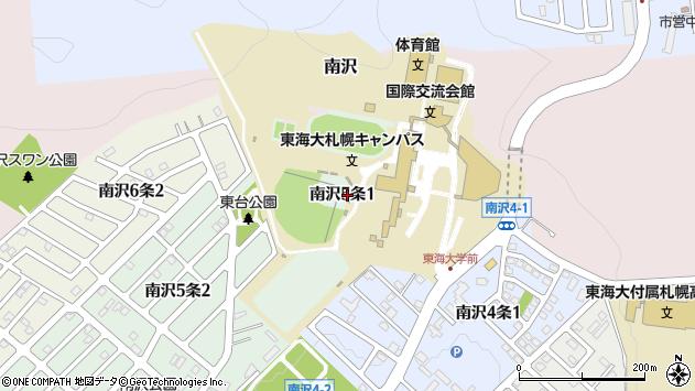 〒005-0825 北海道札幌市南区南沢五条の地図