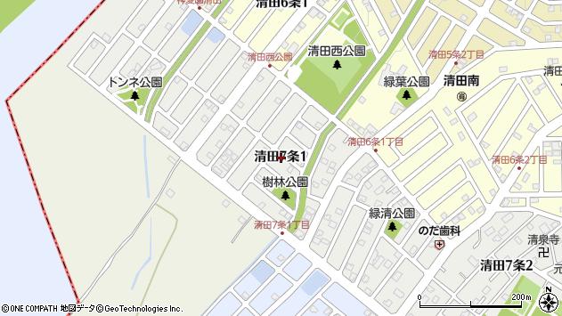 〒004-0847 北海道札幌市清田区清田七条の地図