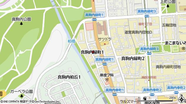 〒005-0013 北海道札幌市南区真駒内緑町の地図