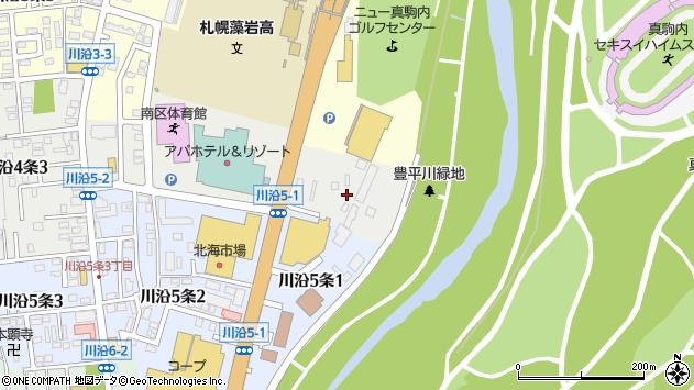 〒005-0804 北海道札幌市南区川沿四条の地図