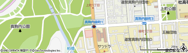 真駒内公園周辺の地図