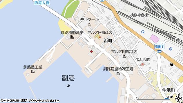〒085-0024 北海道釧路市浜町の地図