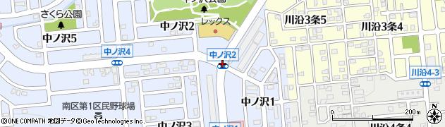 中ノ沢1周辺の地図
