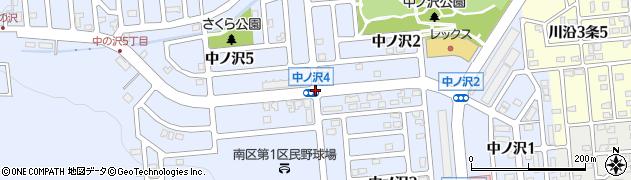 中ノ沢4周辺の地図