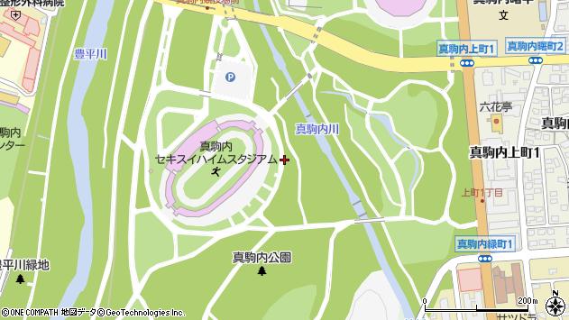 〒005-0017 北海道札幌市南区真駒内公園の地図