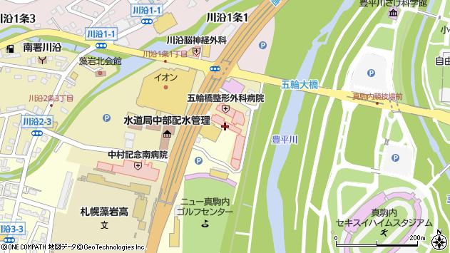 〒005-0802 北海道札幌市南区川沿二条の地図