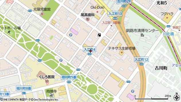〒085-0008 北海道釧路市入江町の地図