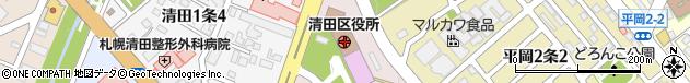 北海道札幌市清田区周辺の地図