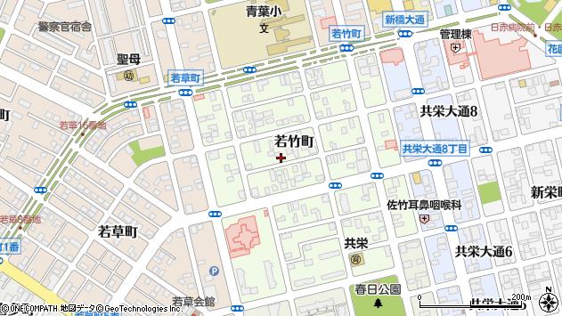〒085-0036 北海道釧路市若竹町の地図