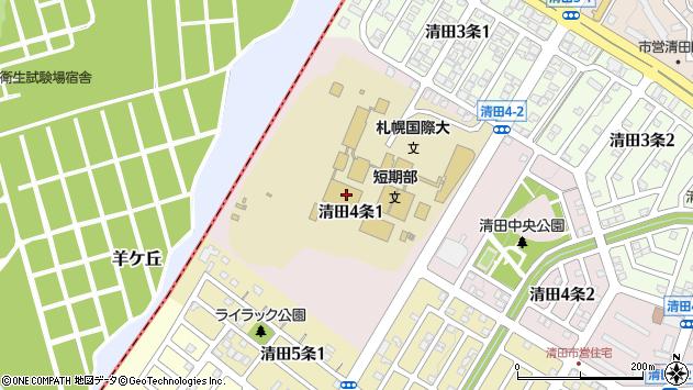 〒004-0844 北海道札幌市清田区清田四条の地図