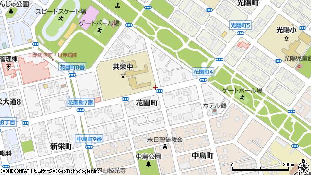 〒085-0038 北海道釧路市花園町の地図