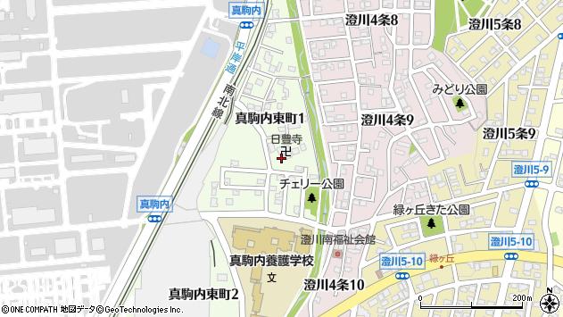 〒005-0011 北海道札幌市南区真駒内東町の地図