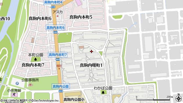 〒005-0018 北海道札幌市南区真駒内曙町の地図
