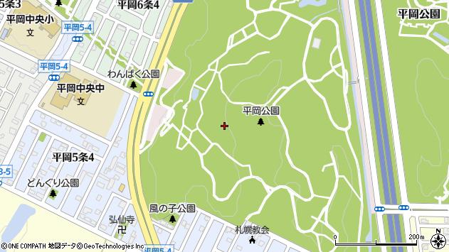 〒004-0881 北海道札幌市清田区平岡公園の地図