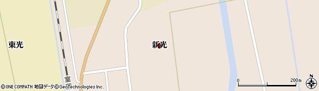 北海道由仁町(夕張郡)新光周辺の地図