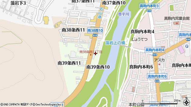 〒005-0039 北海道札幌市南区南三十九条西の地図