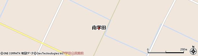 北海道栗山町(夕張郡)南学田周辺の地図