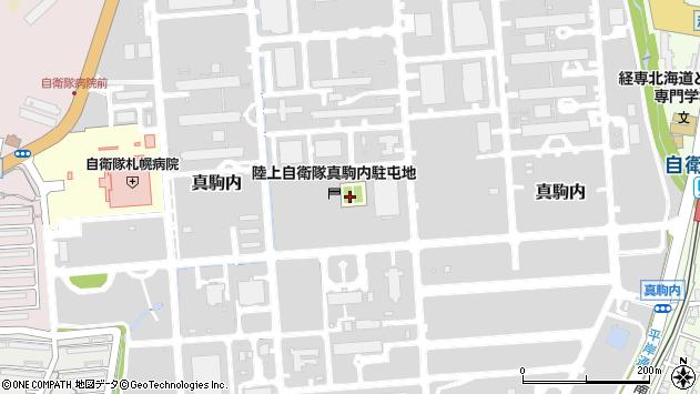 〒005-0008 北海道札幌市南区真駒内17番地の地図