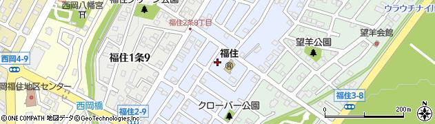 北海道札幌市豊平区福住2条周辺の地図