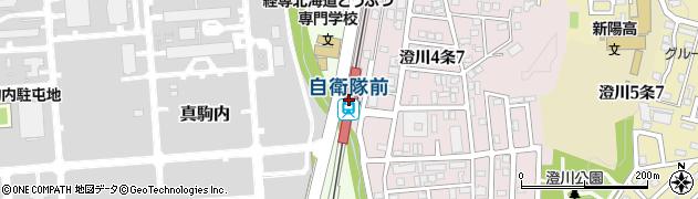 北海道札幌市南区周辺の地図
