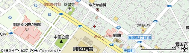 北海道釧路市愛国東2丁目4周辺の地図