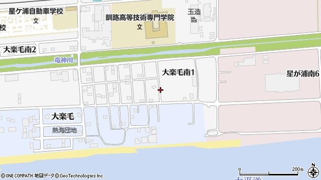 〒084-0915 北海道釧路市大楽毛南の地図