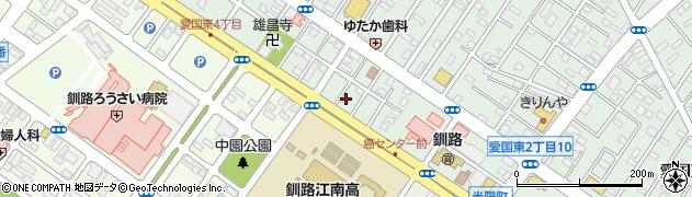 北海道釧路市愛国東2丁目4-7周辺の地図