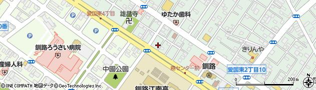 北海道釧路市愛国東2丁目4-8周辺の地図