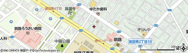 北海道釧路市愛国東2丁目4-15周辺の地図