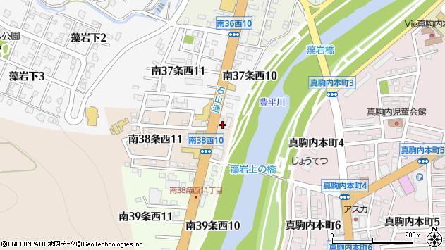 〒005-0038 北海道札幌市南区南三十八条西の地図