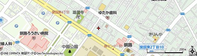 北海道釧路市愛国東2丁目4-13周辺の地図