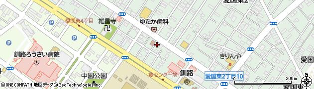 北海道釧路市愛国東2丁目5周辺の地図