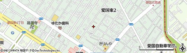 北海道釧路市愛国東2丁目13周辺の地図