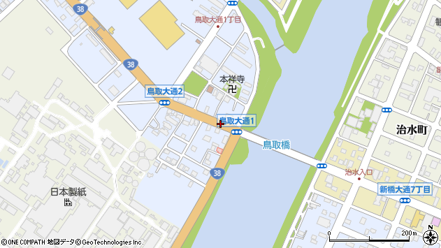 〒084-0906 北海道釧路市鳥取大通の地図
