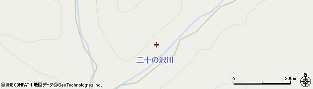 二十の沢川周辺の地図