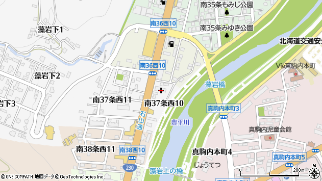 〒005-0037 北海道札幌市南区南三十七条西の地図