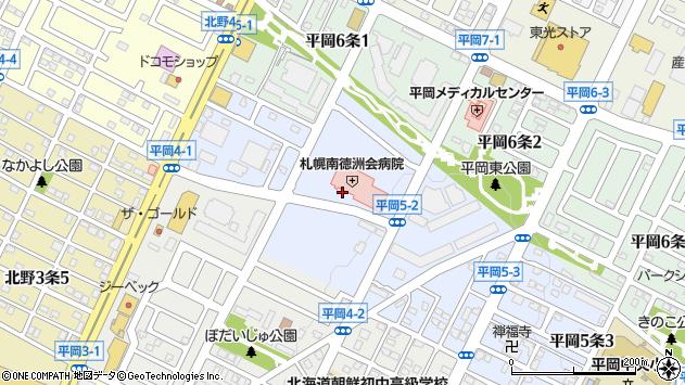 〒004-0875 北海道札幌市清田区平岡五条の地図