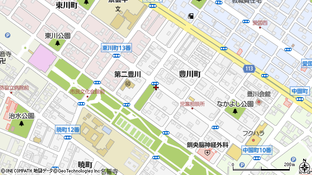 〒085-0053 北海道釧路市豊川町の地図
