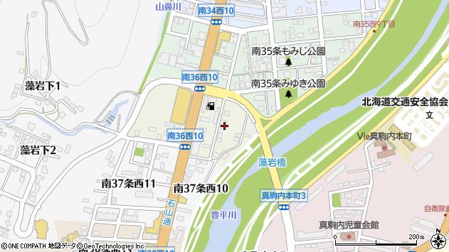 〒005-0036 北海道札幌市南区南三十六条西の地図