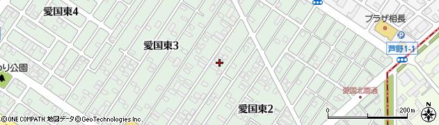 北海道釧路市愛国東2丁目25周辺の地図
