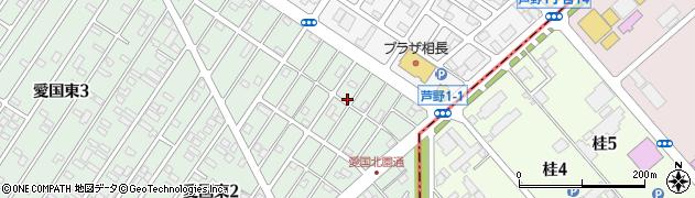 北海道釧路市愛国東2丁目45-14周辺の地図