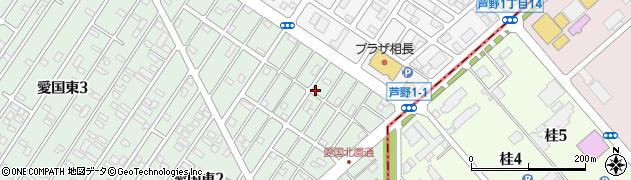 北海道釧路市愛国東2丁目45-3周辺の地図