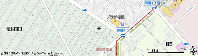 北海道釧路市愛国東2丁目45周辺の地図