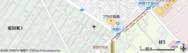 北海道釧路市愛国東2丁目45-4周辺の地図