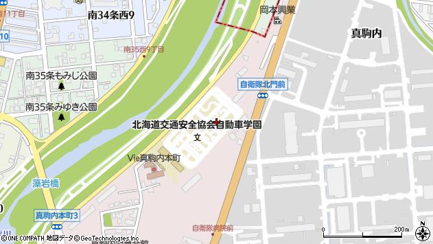 〒005-0021 北海道札幌市南区真駒内本町の地図