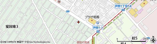 北海道釧路市愛国東2丁目45-6周辺の地図